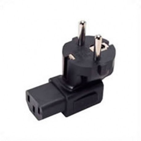 Schuko CEE 7/7 Male Plug to IEC 60320 C13 Female Connector