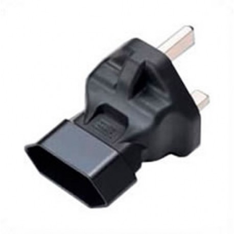 U.K. BS 1363 Male Plug to Euro CEE7/16 Female Connector Angled