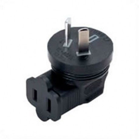Australian AS 3112 Male Plug to NEMA 1-15 Down Female Connector