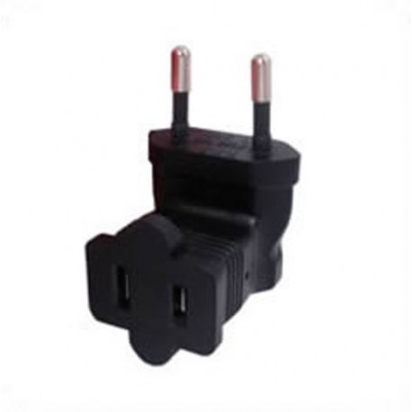 European CEE 7/16 Male Plug to North America NEMA 1-15 Up or