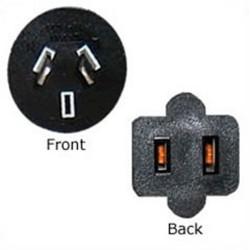 Convert Australian AS 3112 Plug Male to NEMA 1-15 Connector