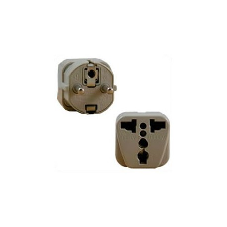 International Adapter Schuko Male Plug to Multiple Female