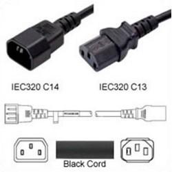 C14 Male to C13 Female 2.5 Meters 15 Amp 250 Volt 14/3 SJT