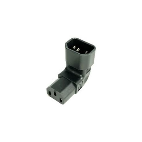 IEC 60320 C14 Plug Up Angle to IEC 60320 C13 Connector Block