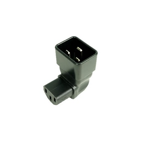 IEC 60320 C20 Plug to IEC 60320 C13 Down Angle Connector Block