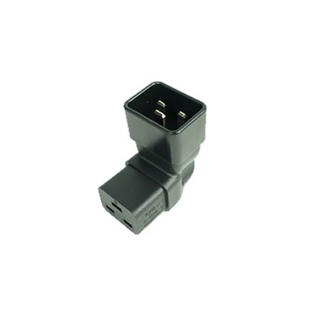 IEC 60320 C20 Plug to IEC 60320 C19 Up Angle Connector Block