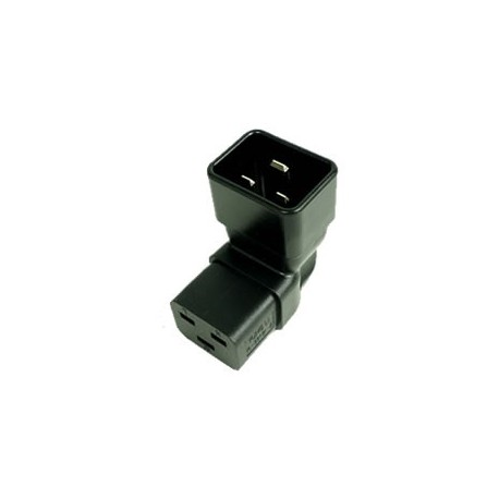 IEC 60320 C20 Plug to IEC 60320 C19 Down Angle Connector Block