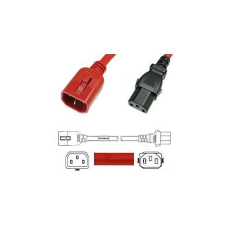 W-Lock C14 Male to C13 Female 3.0 Meter 10 Amp 250 Volt H05VV-F