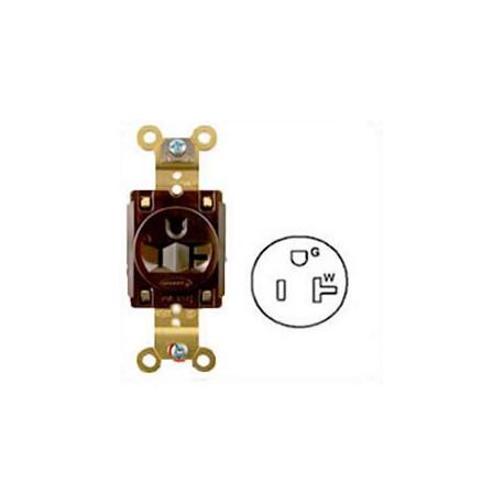 Hubbell HBL5361 NEMA 5-15/20 Industrial Grade Female T-Slot
