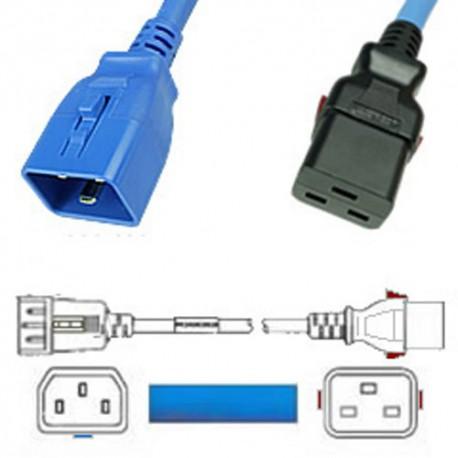W-Lock C20 Male to C19 Female 1.2 Meter 16 Amp 250 Volt H05VV-F