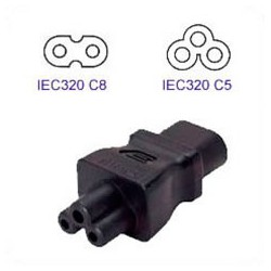 C8 Plug to C5 Connector Block Adapter - Black
