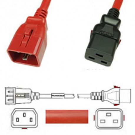 W-Lock C20 Male to C19 Female 3.0 Meter 16 Amp 250 Volt H05VV-F