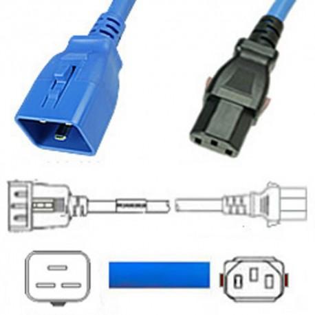 W-Lock C20 Male to C13 Female 1.2 Meter 10 Amp 250 Volt H05VV-F