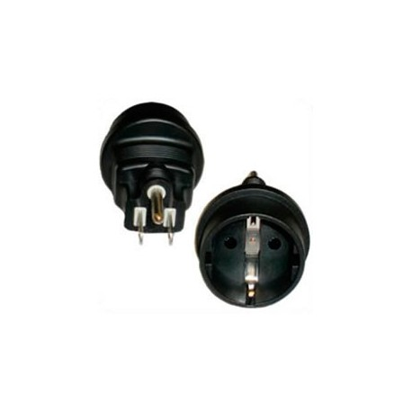 North America NEMA 5-15 Male Plug to Schuko CEE 7/7 Female