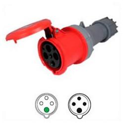 AC Connector 463C6 63 Amp 400 Volt