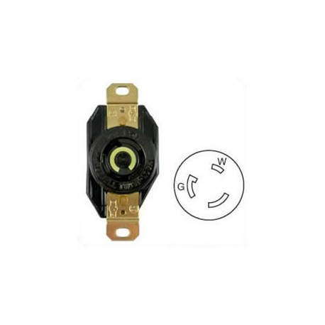 Hubbell HBL2310 NEMA L5-20 Female Receptacle - 20 Amp, 125