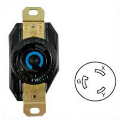 Hubbell HBL2620 NEMA L6-30 Female Receptacle - 30 Amp, 250