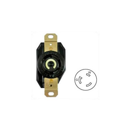 Hubbell HBL2610 NEMA L5-30 Female Receptacle - 30 Amp, 125