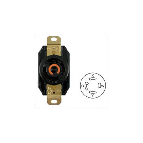 Hubbell HBL2710 NEMA L14-30 Female Receptacle - 30 Amp, 125/250