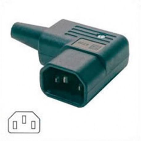 AC Plug IEC 60320 C14 Male Right Angle 15 Amp 250 Volt Straight