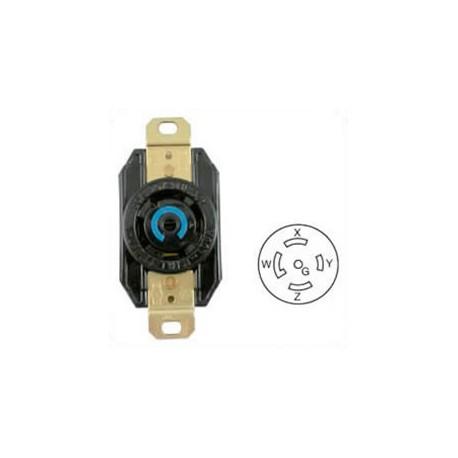 Hubbell HBL2810 NEMA L21-30 Female Receptacle - 30 Amp, 120/208