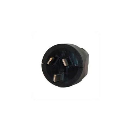 Australia AS 3112 10 Amp 250 Volt Black Straight Entry Male
