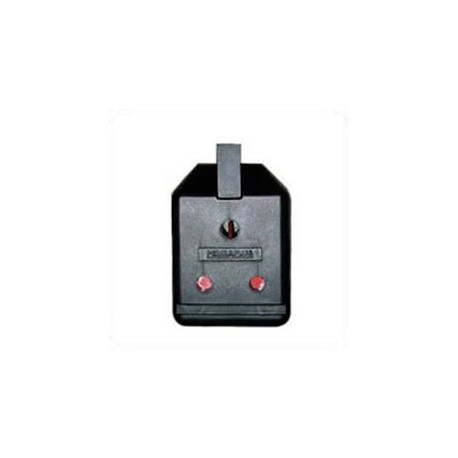 South Africa 5 Amp 250 Volt Black Up Angle Entry Female