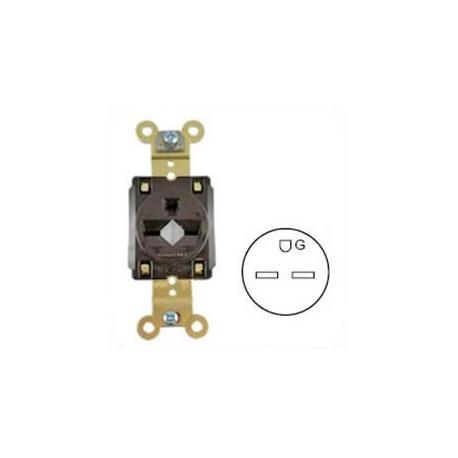Hubbell HBL5661 NEMA 6-15 Industrial Grade Female Receptacle -
