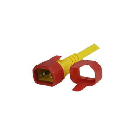 C14 Secure Sleeve Tab Contact Retention Insert - Red with