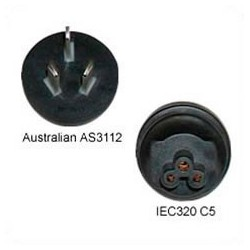 Australian AS 3112 Male Plug to C5 Female Connector 2.5 Amp 250