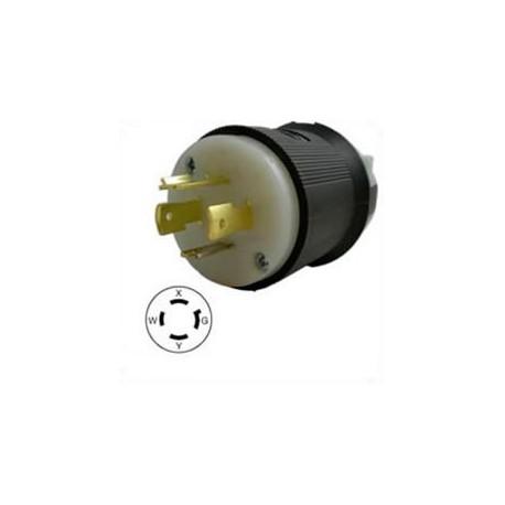 Hubbell HBL2411 NEMA L14-20 Male Plug
