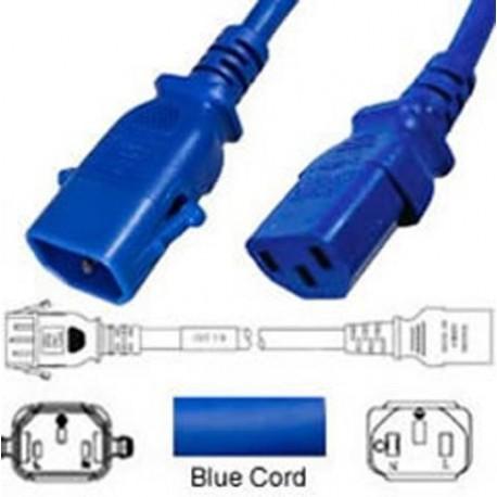 P-Lock C14 Male to C13 Female 0.5 Meter 10 Amp 250 Volt H05VV-F