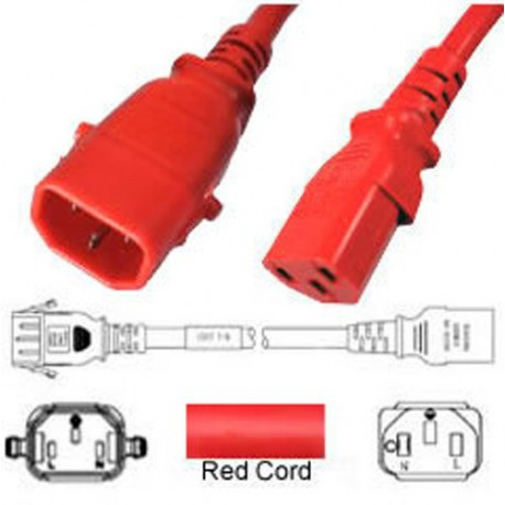 P-Lock C14 Male to C13 Female 1.5 Meter 10 Amp 250 Volt H05VV-F