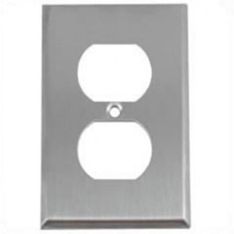 Hubbell SS8 Wall Plate AC 1 Gang 1 Duplex Standard Stainless