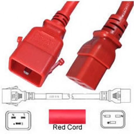P-Lock C20 Male to C19 Female 0.5 Meter 16 Amp 250 Volt H05VV-F