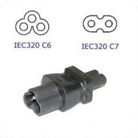 C6 Plug to C7 Connector Block Adapter - Black
