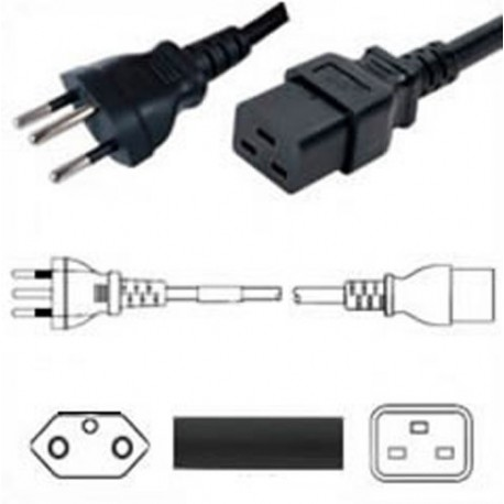 Switzerland SEV 1011 Male to IEC 60320 C19 Female 3.0 Meters 16
