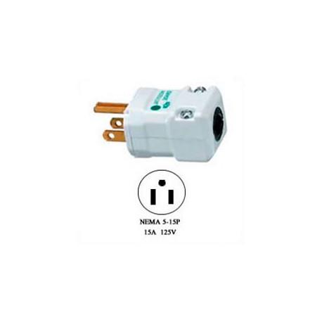 Hubbell HBL8115V NEMA 5-15 Hospital Grade Male Plug - Valise