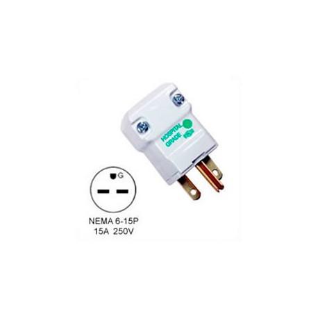 Hubbell HBL8666V NEMA 6-15 Male Plug - Valise, White