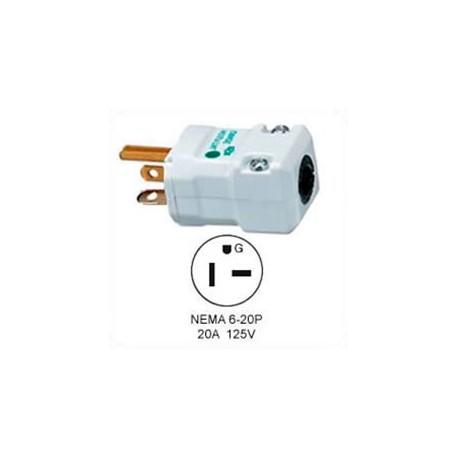 Hubbell HBL8464V NEMA 6-20 Hospital Grade Male Plug - Valise