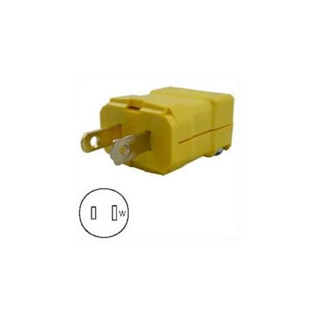 Hubbell HBL5866VY NEMA 1-15 Polarized Male Plug - Valise, Yellow