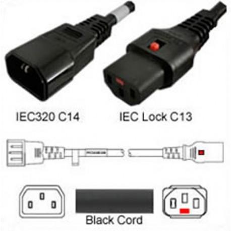 IEC-Lock C14 Male to C13 Female Locking 4.5 Meter 10 Amp 250