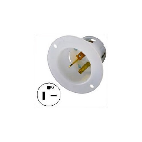 Hubbell HBL5478C NEMA 6-20 Male Inlet - White