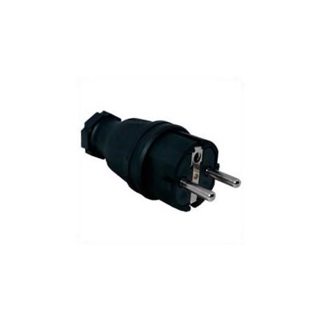 France CEE 7/6 16 Amp 250 Volt Black Straight Entry Male Plug -