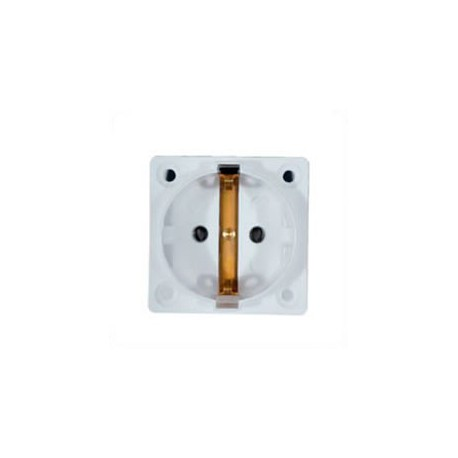 Euro CEE 7/3 16 Amp 250 Volt White Panel Mount Wall Socket -