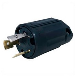 Japan PSE NEMA L6-20 Black Straight Entry Male Plug