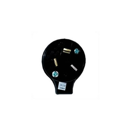 Australia AS 3112 10 Amp 250 Volt Black Angled Entry Male Plug