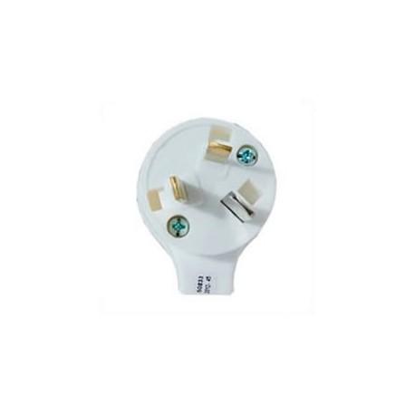 Australia AS 3112 15 Amp 250 Volt White Angled Entry Male Plug