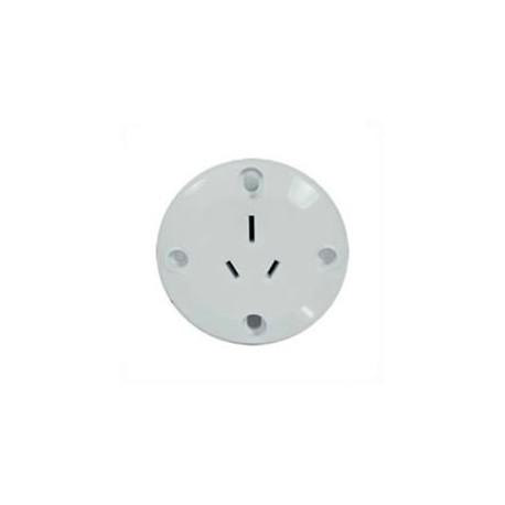 Australia AS 3112 15 Amp 250 Volt White Panel Mount Wall Socket