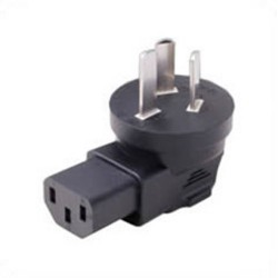China GB 2099 Male Plug to C13 Down Female Connector 10 Amp 250